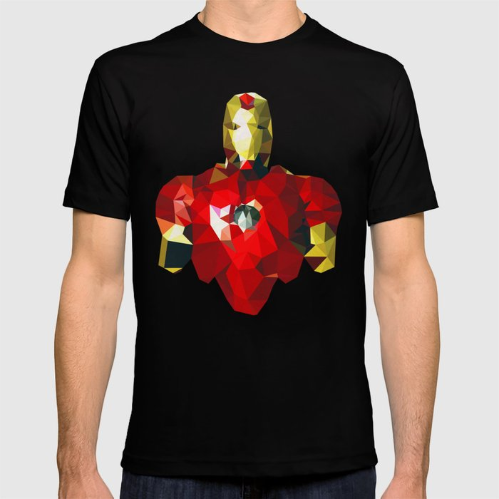 b15acc7b2 Polygon Heroes - Iron Man T-shirt by theblackeningco | Society6
