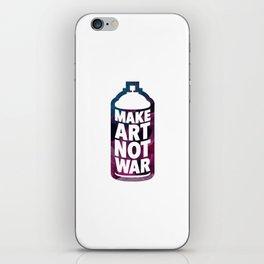 Make Art Not War (white) iPhone Skin