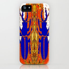 Lapis Blue Beetle on Gold iPhone Case
