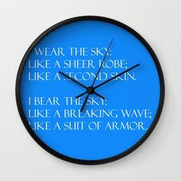 Summer air (blue) Wall Clock