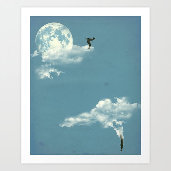 Skydivers Art Print