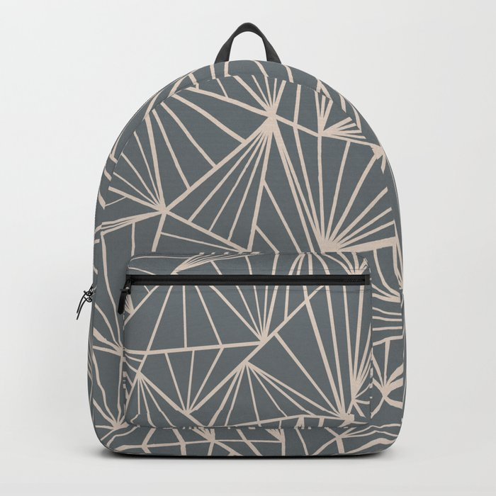 Ab Fan Grey And Nude Backpack