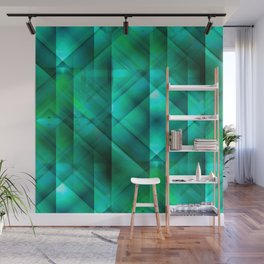 Facets of the Stone (emerald) Wall Mural