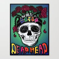 grateful dead Canvas Prints featuring Grateful Dead Poster by JRyann Studio