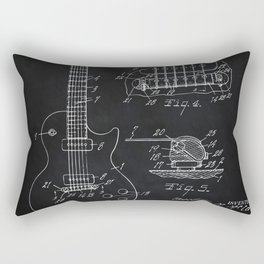 Gibson Guitar Patent Les Paul Vintage Guitar Diagram Rectangular Pillow