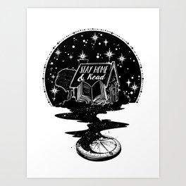Stay Home & Read Art Print