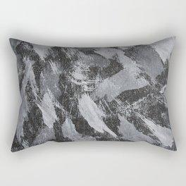 White Ink on Black Background #2 Rectangular Pillow