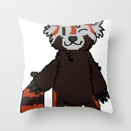 Pixel Panda Throw Pillow