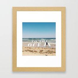 Take Me To The Ocean Framed Art Print