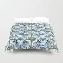 Roses with Bouquets Duvet Cover