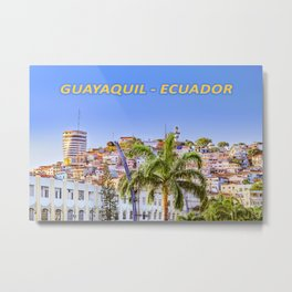 Santa Ana Hill, Guayaquil Poster Print Metal Print