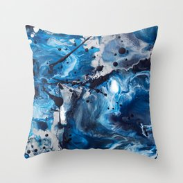 Color Commentary #12: Blue & Silver [Debi Vaught-Thelin] Throw Pillow