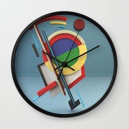 Constructivism & Suprematism in the style of Ivan Kliun (1 of 9) Wall Clock