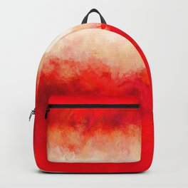 Bright Ruby Red & Cream Abstract Backpack