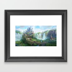 epic fantasy castle  Framed Art Print