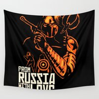 russia Wall Tapestries featuring From Russia With Love by rnlaing