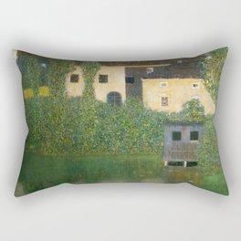 """Gustav Klimt """"Schloss Kammer on Lake Attersee I"""" Rectangular Pillow"""