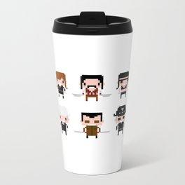 Pixel Machete Characters Metal Travel Mug