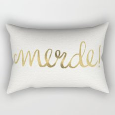 Pardon My French – Gold Ink Rectangular Pillow
