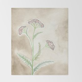 Pink Yarrow Throw Blanket