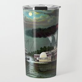 Race Of The Steamers Robert E. Lee and Natchez Travel Mug