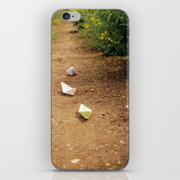 Paper Boats iPhone Skin