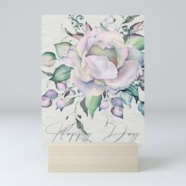 Happy Day – Pastel Rose. Mini Art Print
