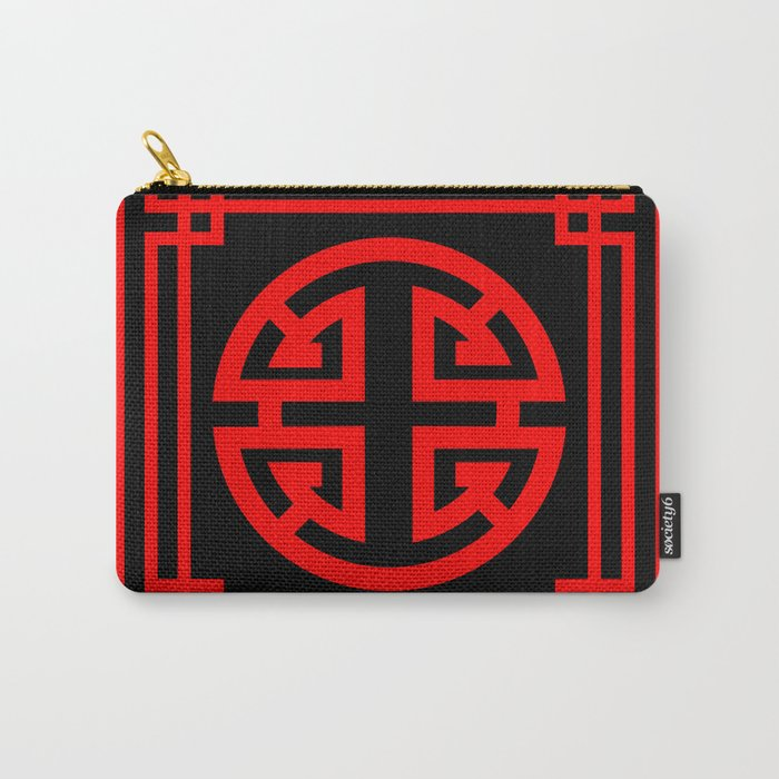 PATTERN ART08-1-Red Carry-All Pouch
