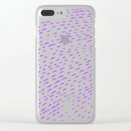 Slashed purple Clear iPhone Case