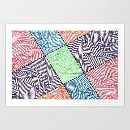 Mmmm Shapes Art Print