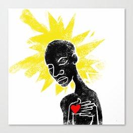 Santuaire de la vierge noire Canvas Print