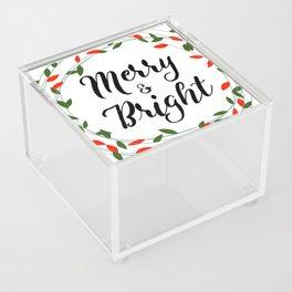Merry & Bright Acrylic Box