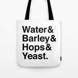 Beer Ingredients Tote Bag