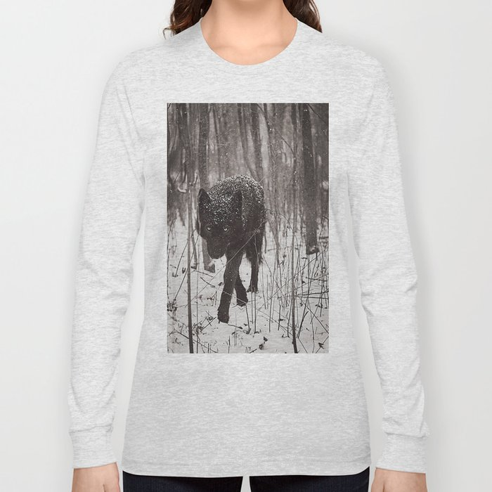 Snow Wolf Long Sleeve T-shirt