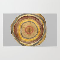 tree rings Area & Throw Rugs featuring Tree Rings by Rachael Shankman