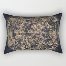 Vintage Constellations & Astrological Signs | Yellowed Ink & Cosmic Colour Rectangular Pillow