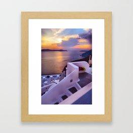 Santorini 24 Framed Art Print