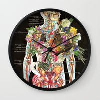 skeleton Wall Clocks featuring Skeleton by Ben Giles