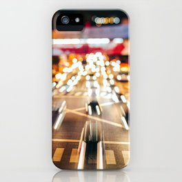 Speeding in the traffic by Night iPhone Case