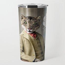 Sir Sebastian Snow Leopard Travel Mug