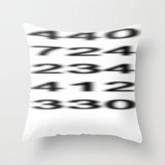 Penn-Ohio Underground - Area Codes Throw Pillow