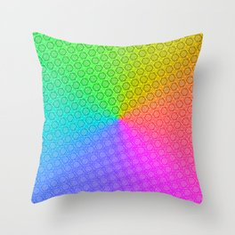 d20 Prismatic Spray Critical Hit Pattern Throw Pillow