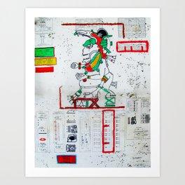 Maya Blueprint  Art Print