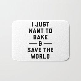 Bake & Save the World Bath Mat