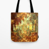 crystals Tote Bags featuring Crystals by Rhawrbhawrburr