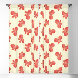 Geometric scattered butterfly vector pattern design. Blackout Curtain