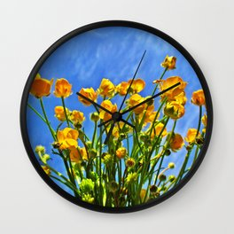 The Sky Is Yellow Wall Clock
