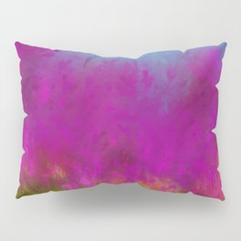 Wildflowers, Impressionist landscape of flowers, grass and sky Pillow Sham