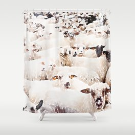 The Herd #watercolor #wildlife Shower Curtain
