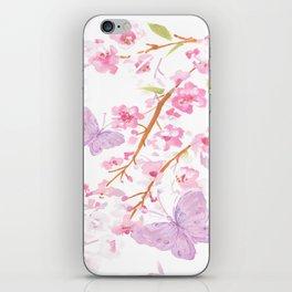 butterflies watecolor iPhone Skin